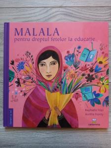 Carte rănită - MALALA pentru dreptul fetelor la educație0