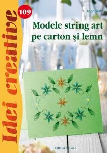 Modele string art pe carton şi lemn - Idei creative 1090