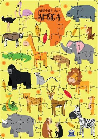Animale din Africa: Puzzle [3]