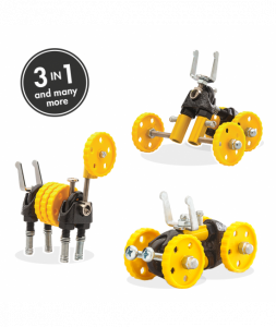 BlazeBit - 3 În 1 Yellow Vehicle Kit The OFFBITS - Set De Construit Cu Șuruburi Și Piulițe0