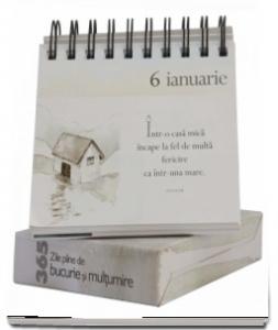 """Calendarul """"365 de zile pline de bucurie și mulțumire""""1"""