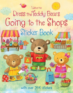 Dress the teddy bears going to the shops sticker book0