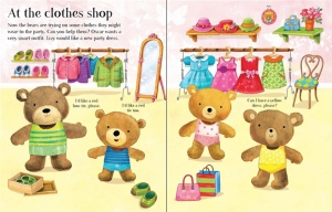 Dress the teddy bears going to the shops sticker book1