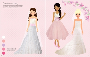 Sticker dolly dressing - Fashion designer wedding collection1