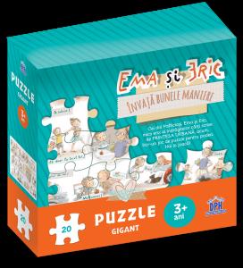 Ema si Eric invata bunele maniere - Puzzle gigant0