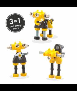 InfoBit - 3 În 1 Character Kit The OFFBITS - Set De Construit Cu Șuruburi Și Piulițe0