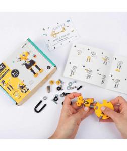 InfoBit - 3 În 1 Character Kit The OFFBITS - Set De Construit Cu Șuruburi Și Piulițe1