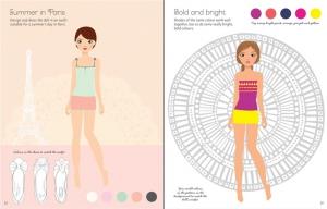 Sticker Dolly Dressing - Fashion designer summer collection1