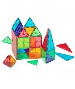 Set Magna-Tiles - 100 Piese Magnetice De Construcție Transparente Colorate2