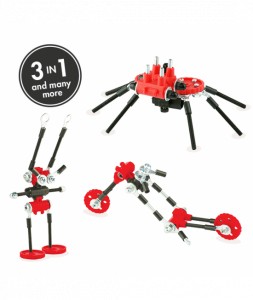 SpiderBit - 3 În 1 Animal Kit The OFFBITS - Set De Construit Cu Șuruburi Și Piulițe0