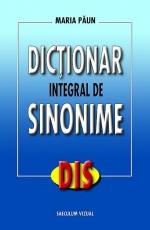 Dictionar integral de sinonime de Maria Paun [0]