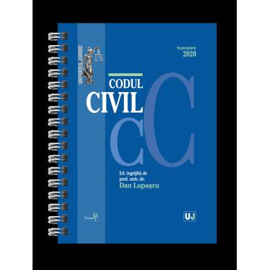 Codul civil Septembrie 2020. EDITIE SPIRALATA de Dan Lupascu [0]