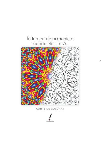 In lumea de armonie a mandalelor Lila... - Carte de colorat 0
