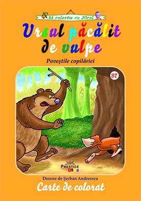 Ursul pacalit de vulpe - carte de colorat 0