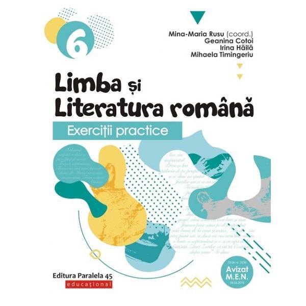 Exercitii practice de limba romana. Caiet de lucru clasa a VI a 2019-2020 de Mina Maria Rusu 0