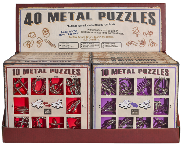 10 metal puzzle purple de Ludicus 3