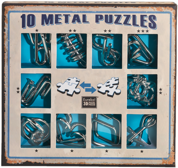 10 metal puzzles blue de Ludicus 0
