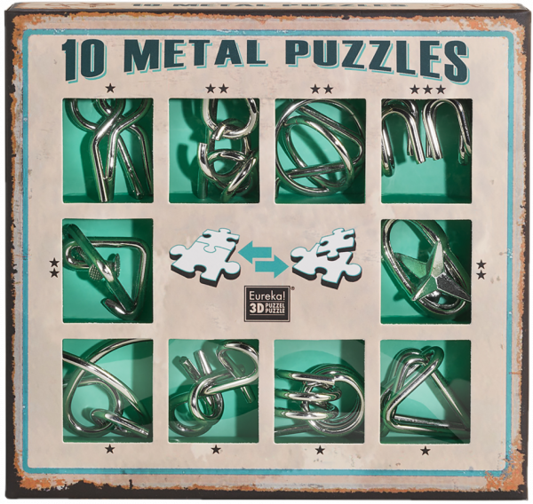 10 metal puzzle green de Ludicus 0