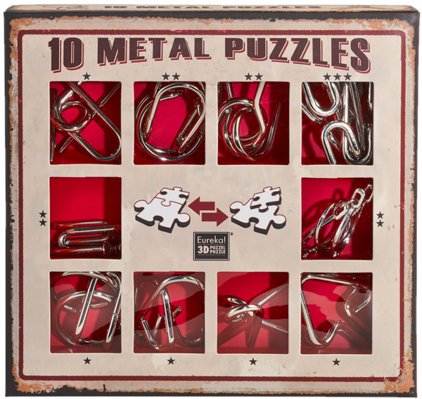 10 metal puzzles Red de Ludicus 0
