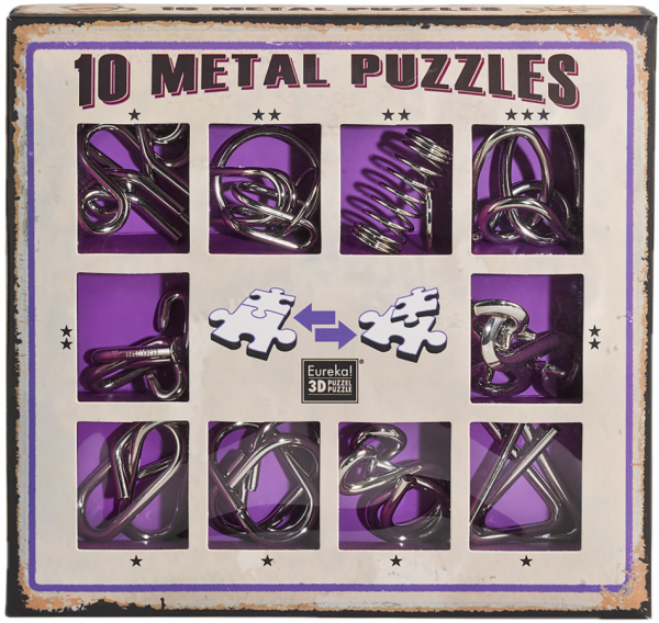 10 metal puzzle purple de Ludicus 0
