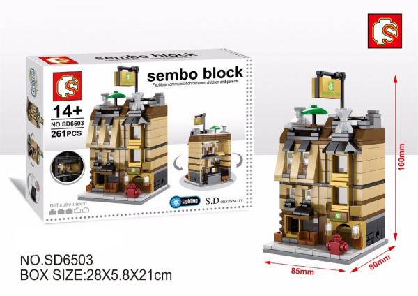 Set constructie, Holiday Inn, 261 piese Sembo Block [0]