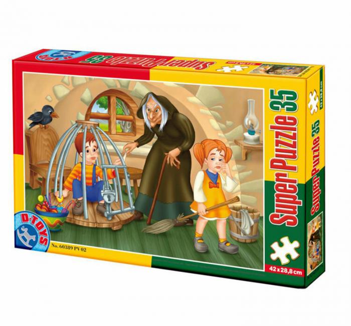 Super Puzzle Hansel si Gretel 35 piese D-TOYS [0]
