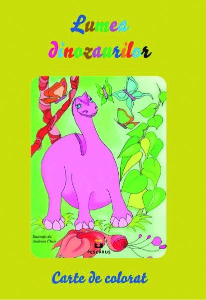 Lumea dinozaurilor - carte de colorat 0