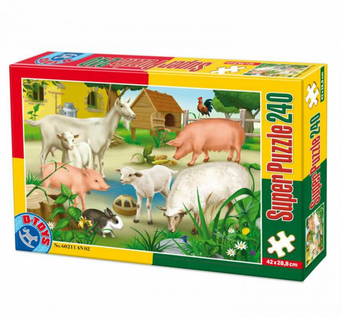 Super Puzzle Animale 240 Piese D-TOYS [0]