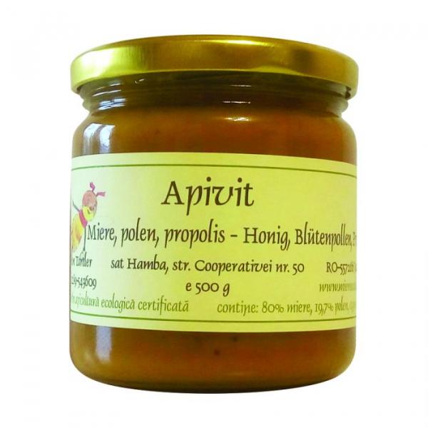 Apivit - Miere, polen si propolis BIO 500g [0]