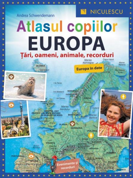 Atlasul copiilor: Europa de Andrea Schwendemann