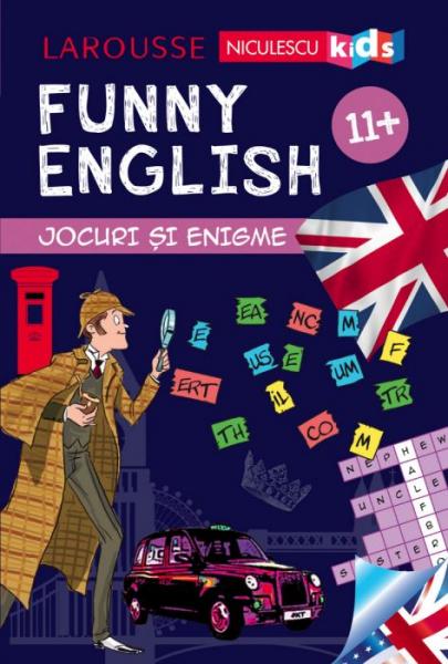 Funny English. Jocuri si enigme 12+ de Sandra Lebrun