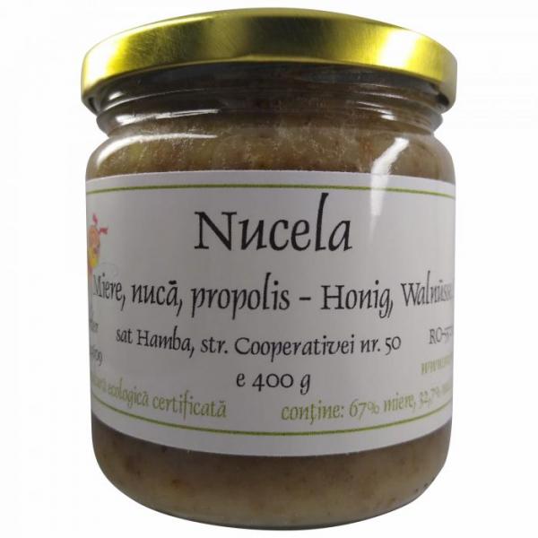 Nucela - miere ecologica cu nuca si propolis 440g [0]