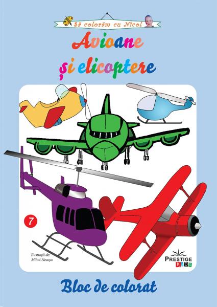 Avioane si elicoptere - carte de colorat 0