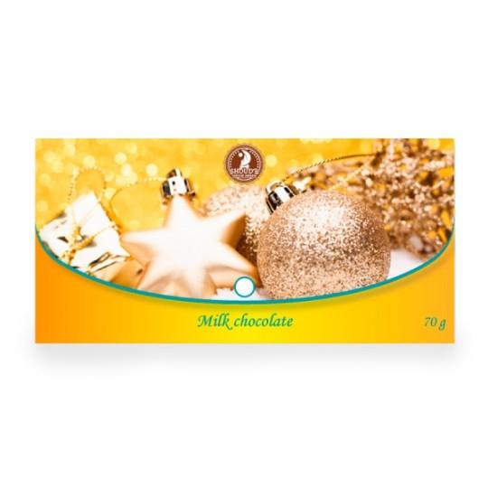 "Ciocolata cu lapte ""Clutch"" (Craciun) - Yellow - SHOUD'E natural sweets [0]"