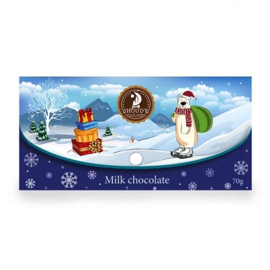 "Ciocolata cu lapte ""Clutch"" (Craciun) - Blue - SHOUD'E natural sweets [0]"