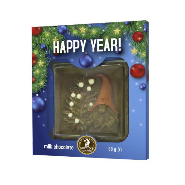"Ciocolata cu lapte ""Happy Year!"" - SHOUD'E natural sweets [0]"
