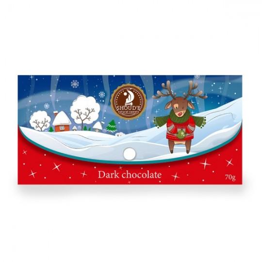 "Ciocolata neagra ""Clutch"" (Craciun) - Red - SHOUD'E natural sweets [0]"