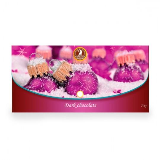 "Ciocolata neagra Shoud'e ""Clutch"" (Craciun) - Pink - SHOUD'E natural sweets [0]"