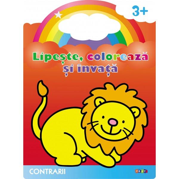 Lipeste, coloreaza si invata. Contrarii. Leul 0