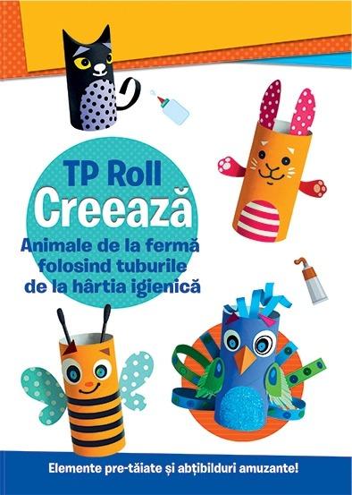 CREEAZA - Animale de la ferma folosind tuburile de la hartia igienica 0