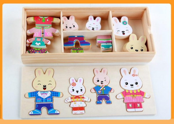 Rabbit Family Clothes Changing Puzzle [0]