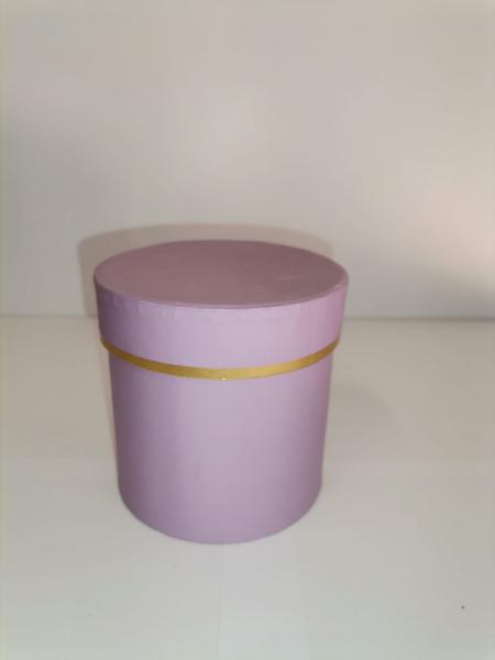 Cutie Carton Rotunda cu Dunga Aurie -  lila [0]