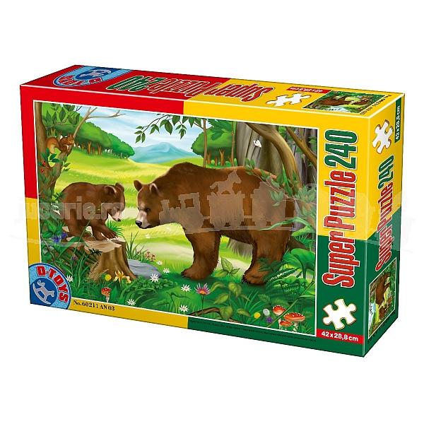 Super Puzzle Ursi 240 Piese D-TOYS [0]