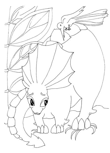 Dinozauri jucausi - carte de colorat 1