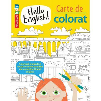Hello English! Carte de colorat de Sam Hutchinson, Emilie Martin 0