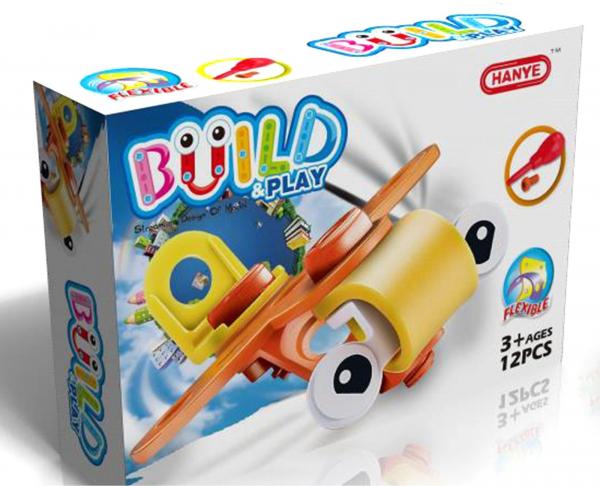 Build&Play: Set de Constructie Avion, 12 piese HANYE [0]