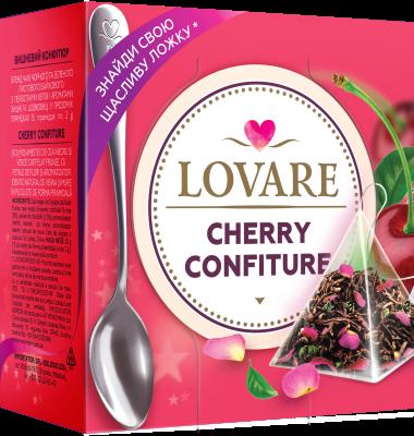 Cherry Confiture Amestec de ceai negru, ceai verde si petale de trandafir, cu aroma de visine si dude de Lovare 0