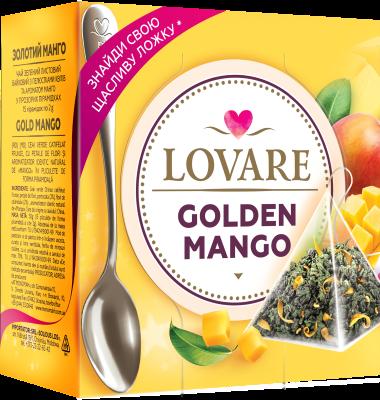Golden Mango Amestec de ceai verde, petale de flori si aroma de mango de lovare 0