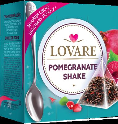 Pomegranate Shake Amestec de ceai negru, fructe de zmeura si petale de sofranel de Lovare 0
