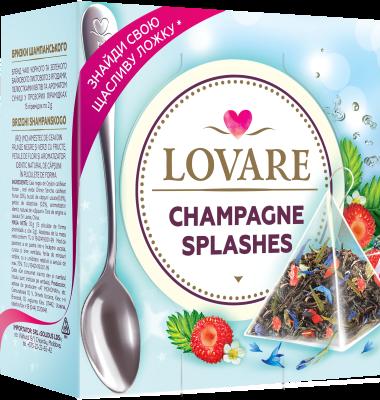 Splashes Of Champagne Amestec de ceai negru, ceai verde, fructe si petale de flori Lovare 0